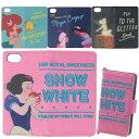 ディズニー iphone ケース6 6s 7 対応スマホケース 手帳型 チェーン付き白雪姫 アリエル アラジン ジャスミン ティン…