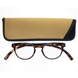 曇り止め ネックリーダーズボストン デミブラウンシニアグラス 老眼鏡リーディンググラスブルーライトカット PC対応
