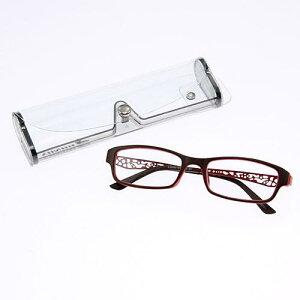 BONOX リーディングラスシニアグラス 老眼鏡透かし ブラウン レッド度数展開 ボノックス