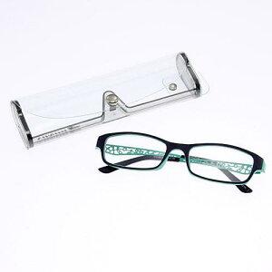 BONOX リーディングラスシニアグラス 老眼鏡透かし ネイビー ブルー度数展開 ボノックス