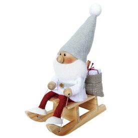 【11月上旬入荷予定】ノルディカニッセ そりに乗るサンタ 白クリスマス北欧 フェルトサイレントナイトシリーズ