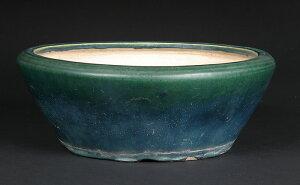 緑巳斎春松緑釉丸鉢