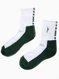 IN THE PAINT(インザペイント) バスケットボール ショートソックス(ホワイト×グリーン)[ITP860W-WHGRN]【バスケットボール】ウェアソックス 靴下 くつ下 スポーツソックス アンクルソックス バッソク メンズ