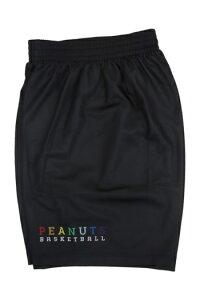 【返品交換不可】昇華デザイン!BALL LINE(ボールライン) スヌーピー バスケットボール パンツ(ブラック)[PNUP-8590-BLK] 【バスケットボール】バスケットボールパンツ バスパン プラクティ