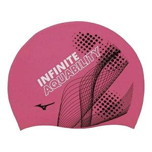 MIZUNO(ミズノ) シリコン スイミング キャップ【INFINITEグラフィク柄】[N2JW0046] 【水泳 競泳 フィットネス】 スイムウェアスイムキャップ 水泳帽子 スイミングキャップ シリコンキャップ