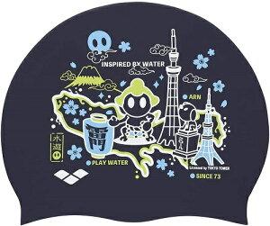 ARENA(アリーナ) シリコン スイミング キャップ 相撲柄[FAR-9902] 【水泳 競泳 フィットネス】 スイムウェアスイムキャップ 水泳帽子 スイミングキャップ シリコンキャップ