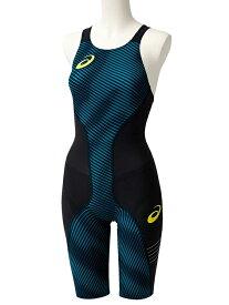 3deea703e4e asics(アシックス) FINA認可モデル レディース 競泳水着 トップインパクトライン 布帛ソーイング縫製モデル ハーフスパッツ  (ブルースティール)[2162A060-401]【水泳 ...