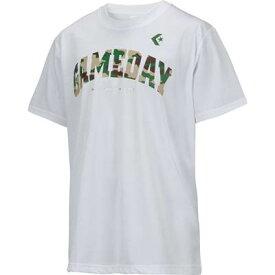 お買い得!CONVERSE(コンバース) バスケットボール Tシャツ(ホワイト×グリーン×マルーン×ベージュ)[CB271314-1100] 【バスケットボール】バスケットボールウェア 半袖Tシャツ プラクティス シャツ