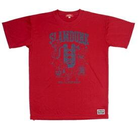 BALL LINE(ボールライン) バスケットボール スヌーピー Tシャツ(レッド×ネイビー)[PNU-1489-RED] 【バスケットボール】バスケットボールウェア 半袖Tシャツ プラクティス シャツ SNOOPY