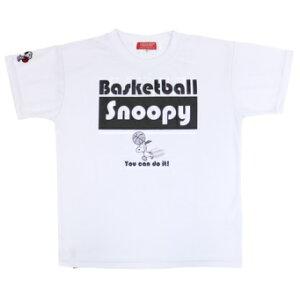 2019SSデザイン☆ジュニアサイズも!BALL LINE(ボールライン) バスケットボール スヌーピー Tシャツ(ホワイト×ブラック)[PNU-1583-WHBK] 【バスケットボール】バスケットボールウェア 半袖Tシャ