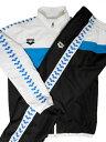 ARENA(アリーナ) マットタフタ ウィンドジャケットジャケット + ロングパンツ 上下セット(ホワイト×ブルー)[ARS-7501(WTBU),ARS-75...