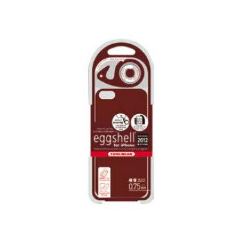 iPhone5用ケース【アウトレット品】eggshell for iPhone 5 ブラウンハードケース