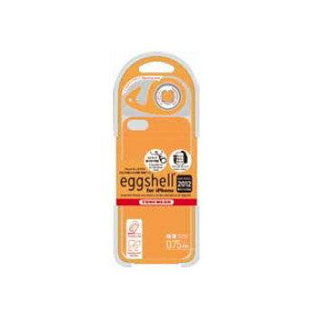 iPhone5用ケース【アウトレット品】eggshell for iPhone 5 オレンジハードケース