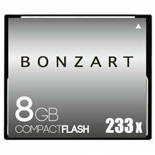 BONZART/ボンザート 8G X233 【BONZ8GCF233】 4571383310926 ボンザートメモリ コンパクトフラッシュ 一眼レフ 高速 ハイスピード