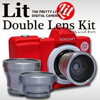 棒子点燃 2 棒子镜头 BOZART 点燃 + 双镜头套装 ボンザート リトプラス 双镜头套件玩具相机玩具相机 toideji 女性相机孩子相机