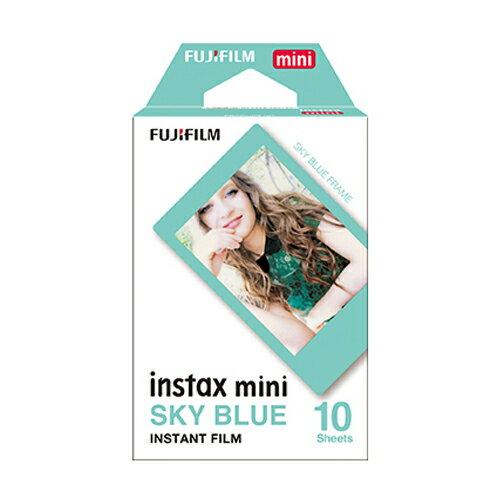 チェキ フィルム スカイブルーinstax mini【送料無料/メール便】FUJIFILME フジフィルム 水色フレーム