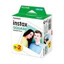 FUJIFILM instax SQUARE 2packチェキ スクエア用フィルム 10枚 × 2