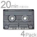 カセットテープ 20分 maxell 4本セット UR-20L 4P 日立 マクセル ノーマル 音楽用テープ 4巻