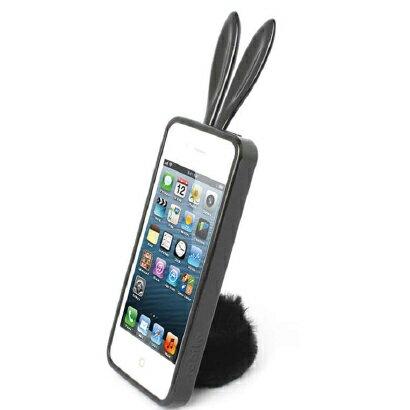 【ラスト1個】【即納可能】【正規品】 Rabito/ラビット うさぎ ケース Rabito for iPhone 5 Black アイフォン ファイブ スタンド シッポ プレゼント 女性 レディ バニー カバー 【RBMK/IP5-BK】4560194548802