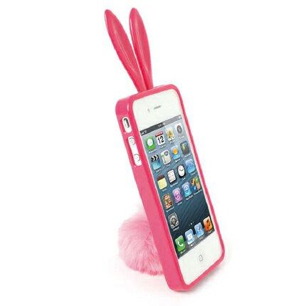 【正規品】ラビット うさぎ ケース Rabito for iPhone 5 Hot Pinkラビット ラバーケース(ホットピンク) アイフォン ファイブ 人気ケース スタンド シッポ プレゼント 女性 レディ バニー カバー【RBMK/IP5-HP 】4560194548789