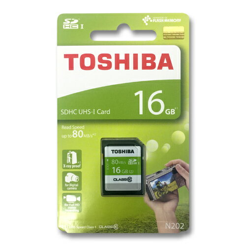 東芝 SDカード 16GBSDHC クラス10 UHS-ITHN-N202N0160A4 80MB/s