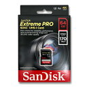 SanDisk SDカード 64GB SDXC UHS-I U3 170MB/s V30 SDSDXXY-064G-GN4IN
