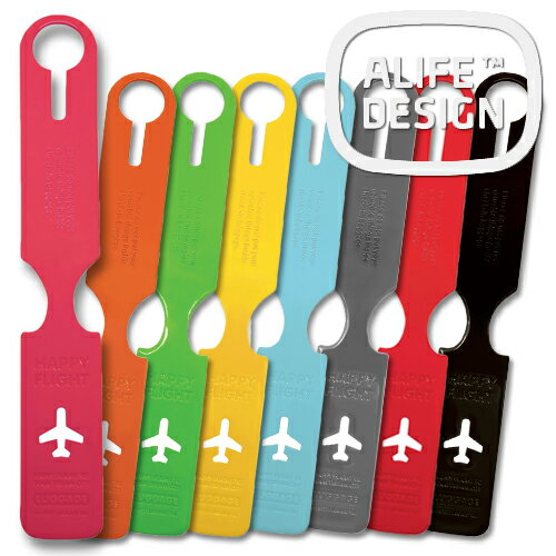 ネームタグALIFE HAPPY FLIGHT LUGGAGE NAME TAG