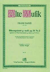 【輸入楽譜】ダンツィ, Franz: 木管五重奏曲 ト短調 Op.56/2
