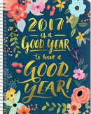 2017 Is a Good Year Large Spiral Planner