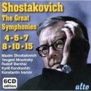 【輸入盤】Sym, 4, 5, 7, 8, 10, 15, : Barshai / M.shostakovich / Ivanov / Mravinsky / Kondrashin /