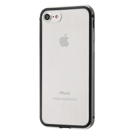 iphone8/iphone7 iPhone SE 第2世代 アルミバンパー+背面パネル(クリア) ブラック