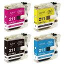 ブラザーLC211シリーズ互換インクカートリッジPLE-BR211-4P