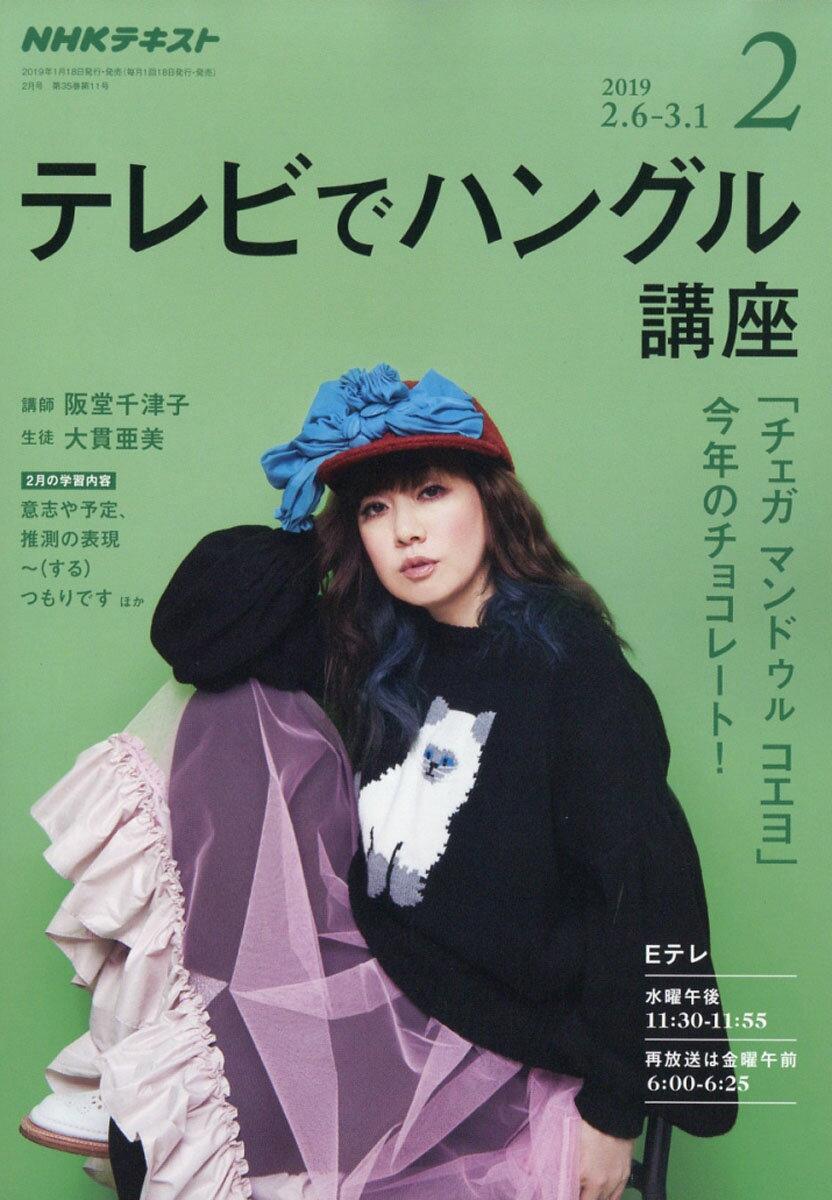 NHK テレビ テレビでハングル講座 2019年 02月号 [雑誌]