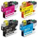 ブラザーLC3111シリーズ互換 インクカートリッジ BPL-BR3111-4PK プレジール
