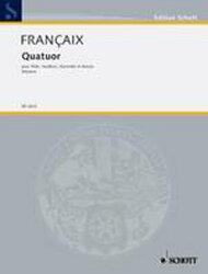 【輸入楽譜】フランセ, Jean: 木管四重奏曲: パート譜セット