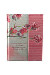 JournalHardcoverFlapPinkFlowerStrength&Shield[ChristianArtGifts]