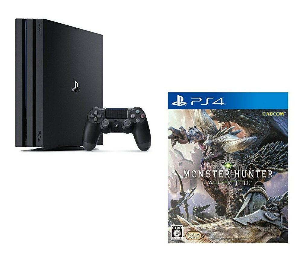 PlayStation4 Pro ジェット・ブラック 1TB + モンスターハンター:ワールド セット