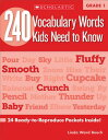 240 Vocabulary Words Kids Need to Know: Grade 1: 24 Ready-To-Reproduce Packets Inside! 240 VOCABULARY WORDS KI…