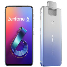 "<Zenfone 6>トワイライトシルバー/6.4""2340x1080(FHD+)/Android 9.0/Qualcomm Snapdragon 855(オクタコアCPU)2.84GHz/LPDDR4X 6GB/128GB(UFS 2.1)/802.11"