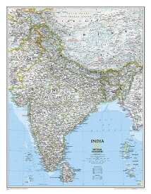 National Geographic: India Classic Wall Map - Laminated (23.5 X 30.25 Inches) MAP-NATL GEOGRAPHIC INDIA CLAS [ National Geographic Maps - Reference ]