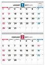 ダブルリング式2カ月シンプルカレンダー「B3」(2017) ([カレンダー])