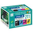 エコリカ ブラザー LC211-4PK対応 リサイクルインクカートリッジECI-BR211-4P