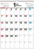 書き込み式シンプルカレンダー(B3タテ)(2018) ([カレンダー])