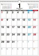 書き込み式月曜始まりシンプルカレンダー(B3タテ)(2018)