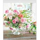 2019年 カレンダー 壁掛け フラワーウォール