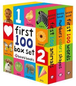 First 100 Board Book Box Set (3 Books) 1ST 100 BOARD BK BOX SET (3 BO (First 100) [ Roger Priddy ]