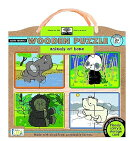 Green Start Animals at Home Wooden Puzzle