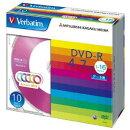 DVD-R 4.7GB 10枚スリム・カラーMIX