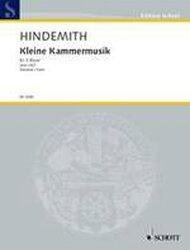 【輸入楽譜】ヒンデミット, Paul: 5つの管楽器のための小室内音楽 Op.24/2