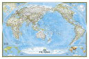 National Geographic: World Classic, Pacific Centered Wall Map (46 X 30.5 Inches)